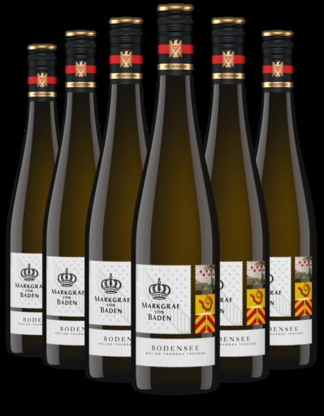 6 Flaschen 2019 Bodensee Müller-Thurgau trocken VDP.Gutswein