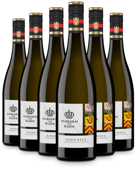 6 Flaschen 2019 Bodensee Grauburgunder trocken VDP.Gutswein