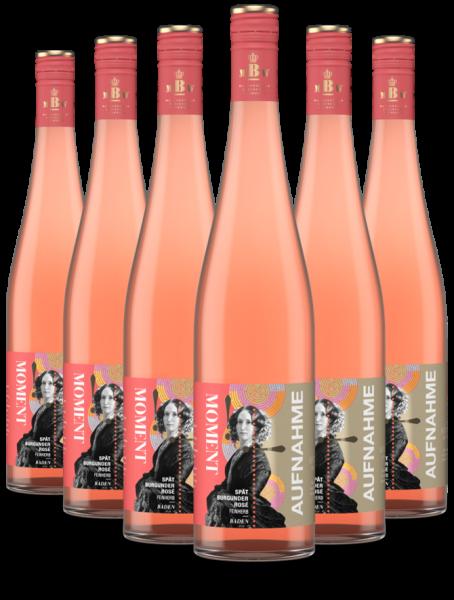 6 Flaschen 2019 Moment-Aufnahme Spätburgunder Rosé feinherb