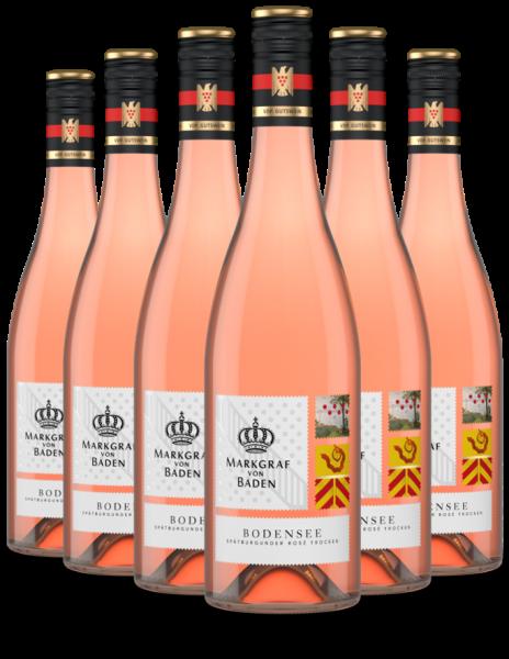 6 Flaschen 2019 Bodensee Spätburgunder Rosé trocken VDP.Gutswein