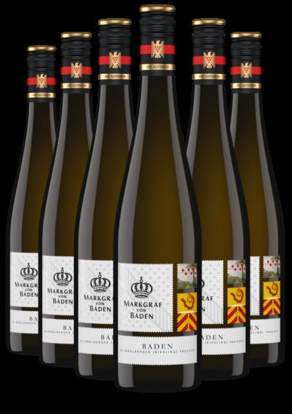 6 Flaschen 2019 Baden Klingelberger (Riesling) trocken VDP.Gutswein